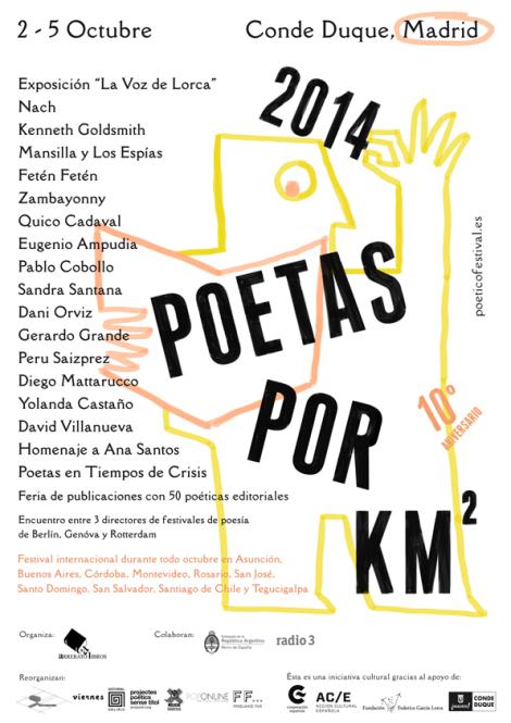 2014 Poetas por Km2