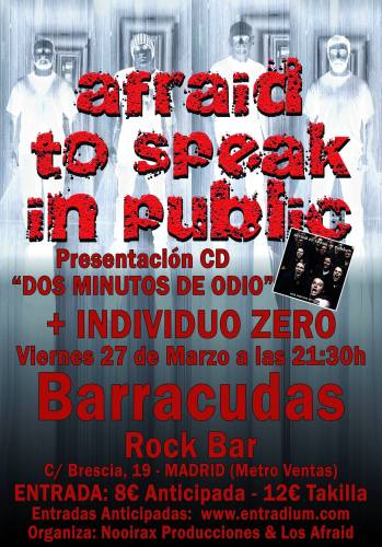 afraid to speak in public